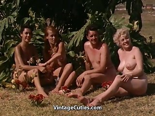 Naked Girls Having Fun at a Nudist..