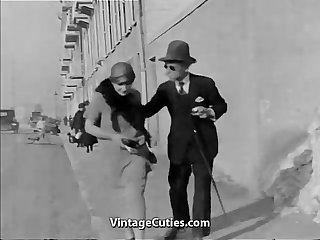 Old Man Fucks Hot Girls in Town 1920s..
