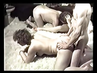 Wild Vintage Group Bisexual action