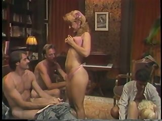 Hot retro group sex action with Nina..