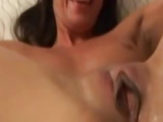 Retro amateur fingered after creampie