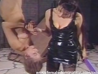 Beautiful slave girl experiences a whole..