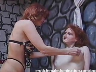 Rough dominatrix has her fun with a..