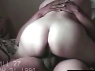 Vintage sextape of chubby wife getting..