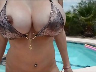 busty pool girl