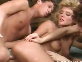 Tom Byron & Ginger Lynn Anal Beads Fun