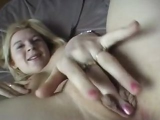 British Blonde Slag toys herself