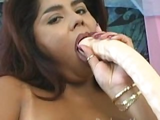 Chubby BBW Latina Sucking and Fucking a..