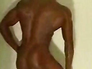 Black Female Bodybuilder taking a shower 3
