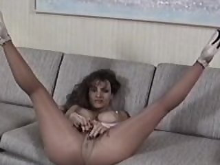 Vintage Lisa Ann Teasing With Her Legs..