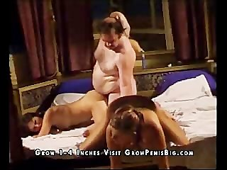 Vintage Threesome Orgy Fatso Bedroom