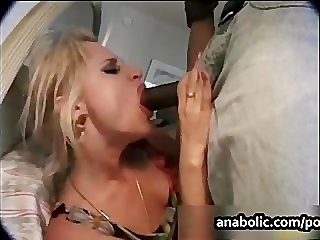 Two sluts get pounded hard by two black..