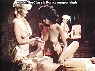 Threesome porn video with vintage..
