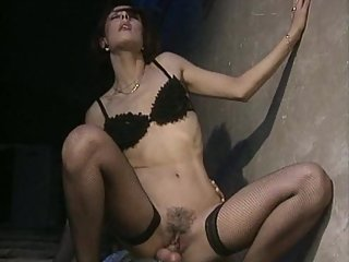 Nathalie Boet sucks and rides cocks in..