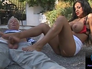 Busty brunette Cory Everson loves giving..