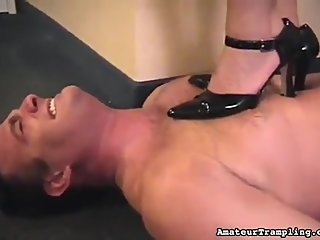 Vintage mistress dominating slave