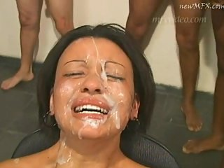 dirty brazilian cumslut cries during a..