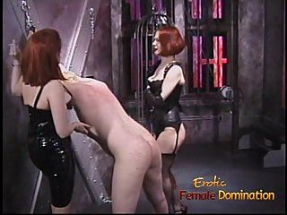 Two irresistible redhead dominas love..