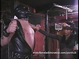 Kinky stud in a mask enjoys being..