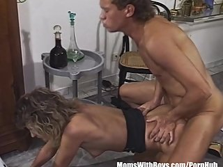Smalltit Blonde MILF Sucking And Fucking..