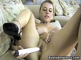 Busty amateur Dolly masturbates her..