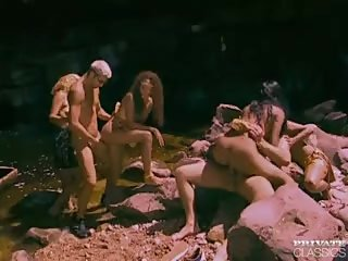 Latinas Orgy in the River