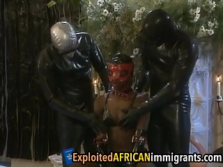 African sex slave is getting pounded..
