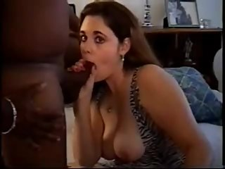 Hubby films his curvy brunette wife with..