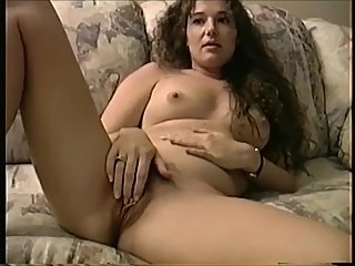 Sexy Shy MILF Spreading Hairy Pussy and..