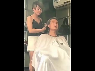 Chinese manages the ...from the barber..
