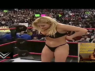 TRISH STRATUS SHOWING HER BLACK BRA &..
