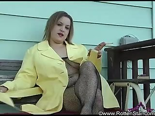 Smoking Fishnet Body Stocking in Yellow..