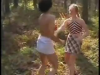 Russian forest catfight