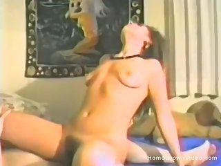 A Slutty Brunette Rides Cock Like A Champ