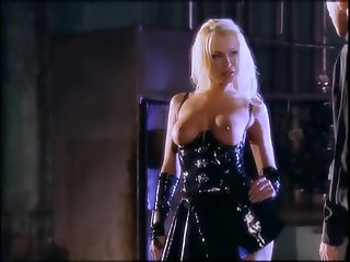 Blonde latex fuck