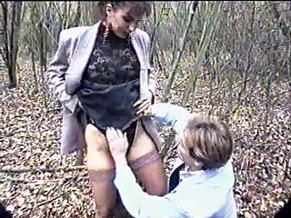 Euro Woman Hot Sex In Outdoor