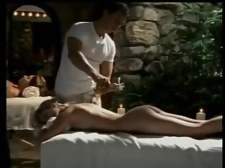 Two hot babes massaged
