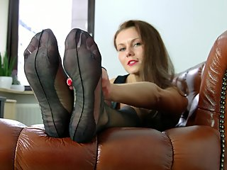 Polish Mistress POV Paulina Stocking Feet