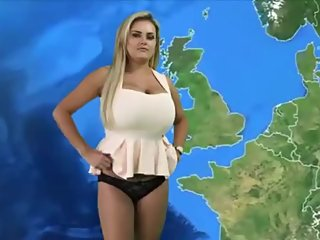 Big busty weather girl